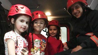 Photo of Ferizli-li minikler itfaiyecilerle tanıştı