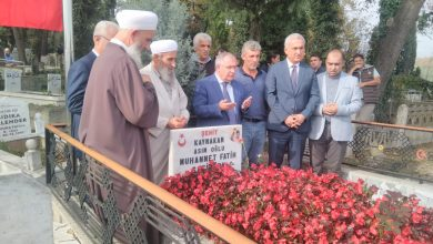 Photo of Şehit Kaymakam Mezarı Başında anıldı