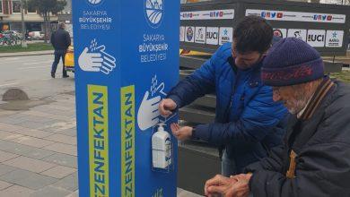 Photo of Büyükşehirden El Dezenfektan otomatları