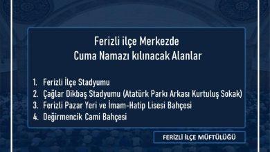 Photo of Ferizlide Cuma kılınacak yerler değişti