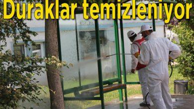 Photo of Otobüs Durakları Dezenfekte Ediliyor