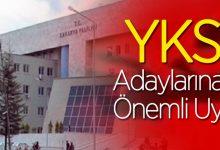 Photo of YKS Adaylarına önemli uyarı!