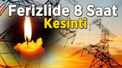 Photo of Ferizlide Pazar günü 8 saat elektrikler yok